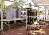 Terrasse de restaurant avec Ziptrak cristal